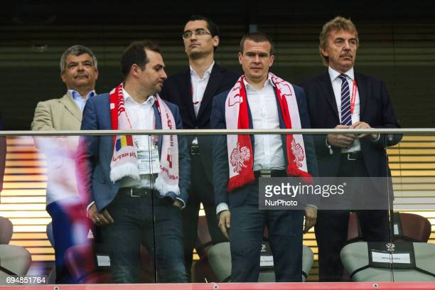 Witold Banka Zbigniew Boniek during the FIFA World Cup 2018 qualification football match between Poland and Romania in Warsaw Poland on June 10 2017