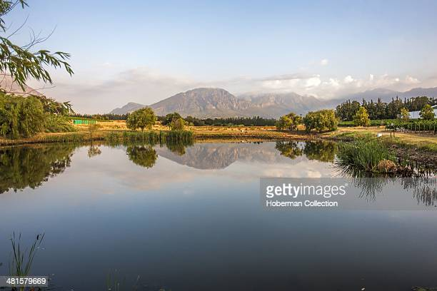 Witzenberg Mountains Scenery from Rijk's Country Lodge and Wine Estate With Beautiful Landscape Views of the Cape Winelands Near Tulbagh in the...
