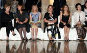Wives of G8 leaders and European Union Laura Bush Sarah Brown Laureen Harper Svetlana Medvedeva Margarida Sousa Uva and Kiyoko Fukuda attend a social...