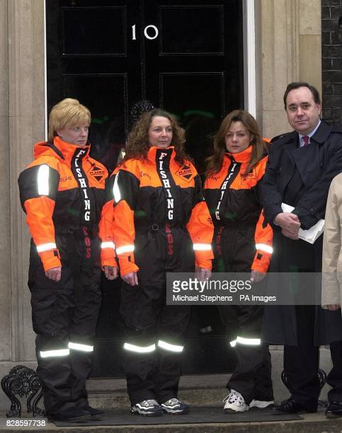 Wives of Scottish fishermen today at No10 Downing Street to highlight the damage they believe new European Union restrictions will do to their...