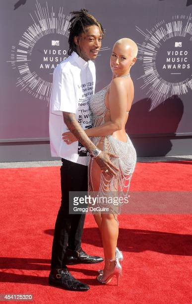 Wiz Khalifa and Amber Rose arrive at the 2014 MTV Video Music Awards at The Forum on August 24 2014 in Inglewood California