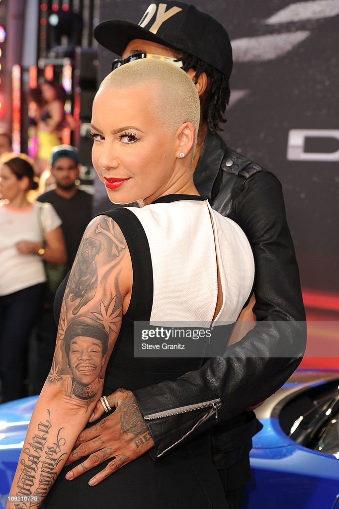 Wiz Khalifa and Amber Rose arrives at the 'Fast & The Furious 6' - Los Angeles Premiere at Gibson Amphitheatre on May 21, 2013 in Universal City, California.