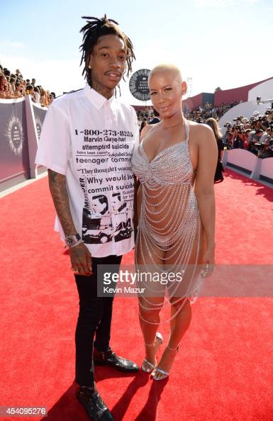 Wiz Khalifa and Amber Rose attend the 2014 MTV Video Music Awards at The Forum on August 24 2014 in Inglewood California