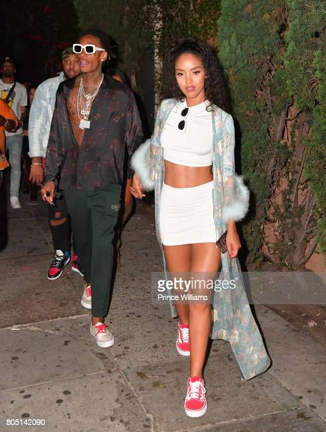 Wiz Khalifa and Izabela Guedes seen at Lure Nightclub on June 24 2017 in Los Angeles California