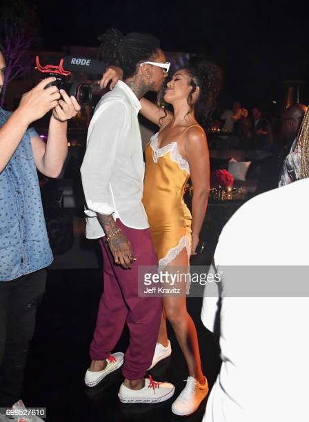 Wiz Khalifa and Izabela Guedes toast to Sean 'Diddy' Combs and the world premiere of Can't Stop Won't Stop at the official after party powered by...