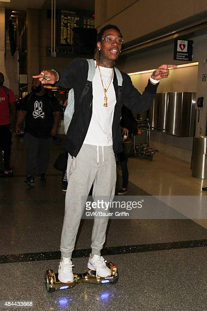 Wiz Khalifa is seen at LAX on August 18 2015 in Los Angeles California