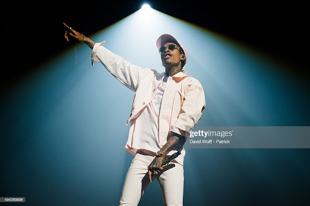 Wiz Khalifa performs at Le Zenith on October 25 2015 in Paris France