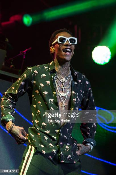 Wiz Khalifa performs at the 2017 BET Experience on June 24 2017 in Los Angeles California
