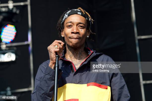 Wiz Khalifa performs during the 2014 Hangout Music Festival on May 16 2014 in Gulf Shores Alabama