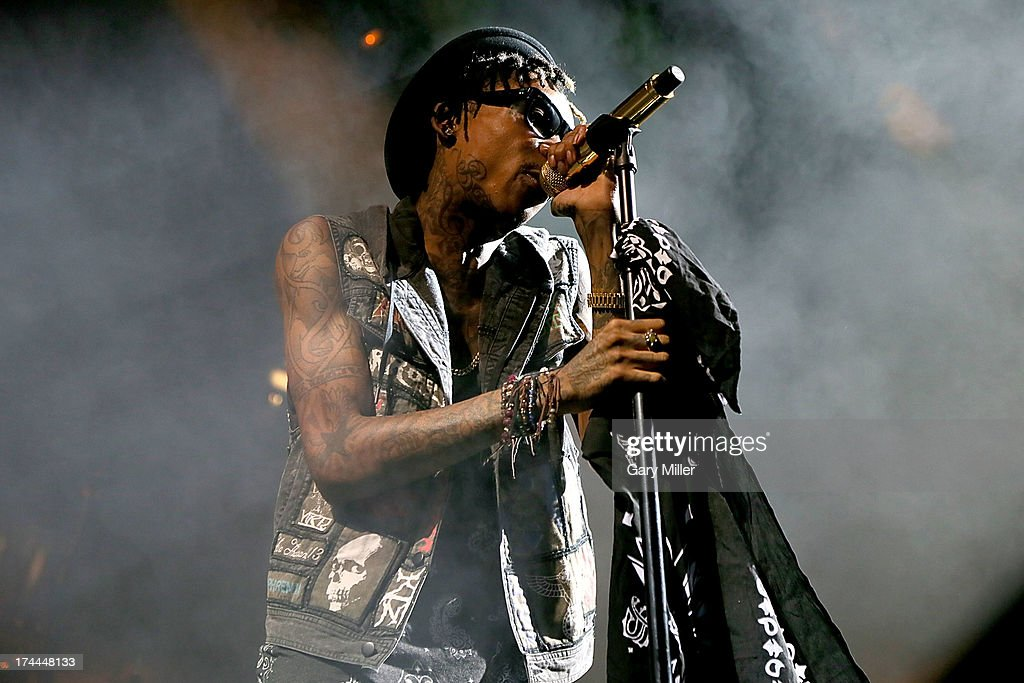 Wiz Khalifa performs in concert at the Austin360 Amphitheater on July 25, 2013 in Austin, Texas.