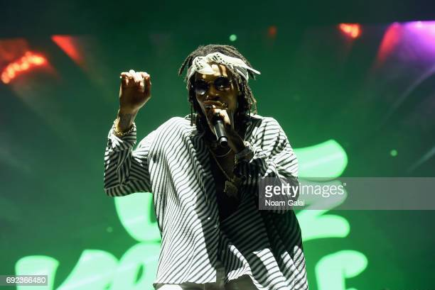 Wiz Khalifa performs onstage during the 2017 Governors Ball Music Festival Day 3 at Randall's Island on June 4 2017 in New York City