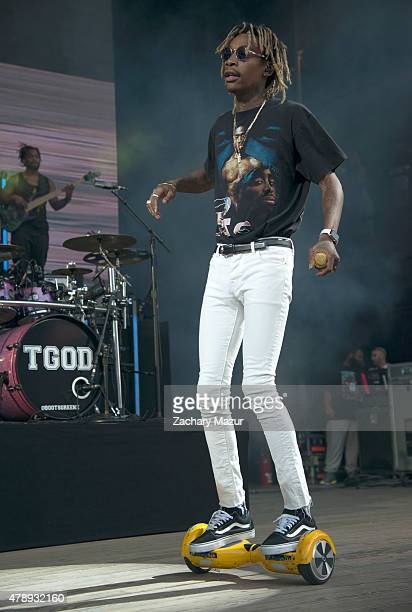 Wiz Khalifa performs onstage during The Boys of Zummer tour at Nikon at Jones Beach Theater on June 24 2015 in Wantagh New York