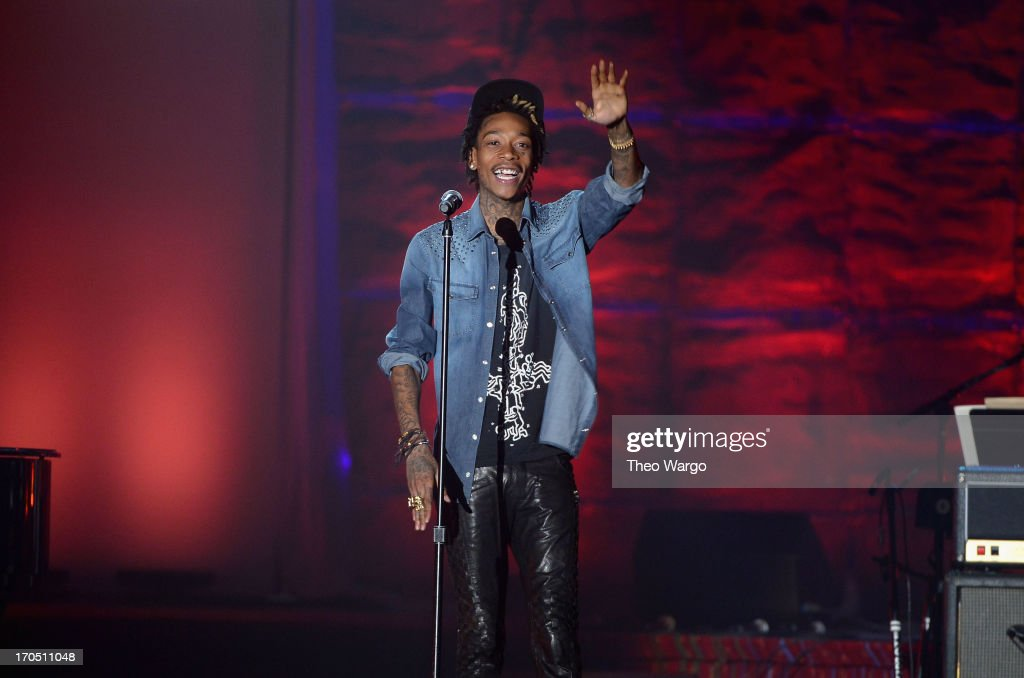 Wiz Khalifa performs the Songwriters Hall of Fame 44th Annual Induction and Awards Dinner at the New York Marriott Marquis on June 13, 2013 in New York City.
