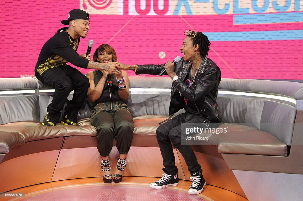 <a gi-track='captionPersonalityLinkClicked' href=/galleries/search?phrase=Wiz+Khalifa&family=editorial&specificpeople=7183449 ng-click='$event.stopPropagation()'>Wiz Khalifa</a> visits BET's '106 & Park' at BET Studios on April 17, 2013 in New York City.