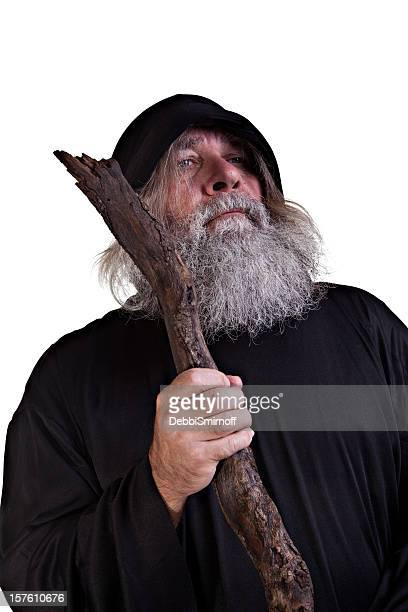 Wizard  With his wooden Staff