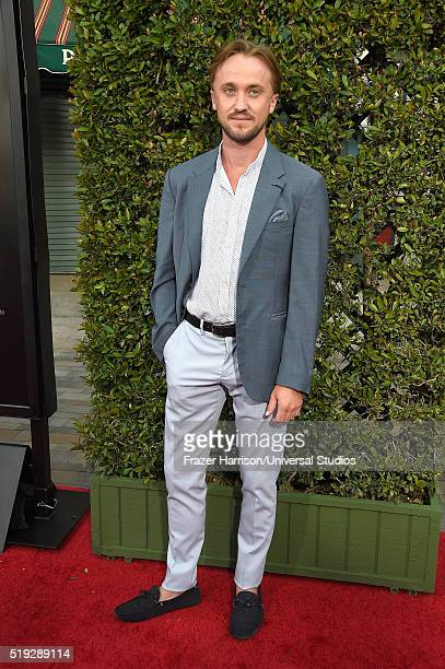 HOLLYWOOD 'Wizarding World of Harry Potter Attraction Opening' Pictured Actor Tom Felton arrives at the opening of the 'Wizarding World of Harry...