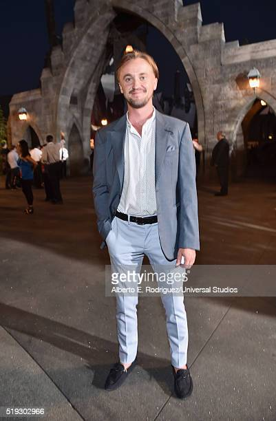 HOLLYWOOD 'Wizarding World of Harry Potter Attraction Opening' Pictured Actor Tom Felton attends the opening of the 'Wizarding World of Harry Potter'...