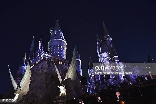 HOLLYWOOD 'Wizarding World of Harry Potter Attraction Opening' Pictured An exterior view of Hogwarts castle at the opening of the 'Wizarding World of...