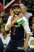 Wizards fan celebrates after the Washington Wizards swept the series against the Toronto Raptors during Game Four of the Eastern Conference...