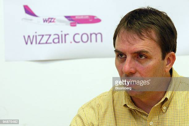 Wizz Air Chief Executive Office Jozsef Varadi gives an interview in his company's headquarters in Budapest Hungary Thursday June 9 2005 Wizz Air...