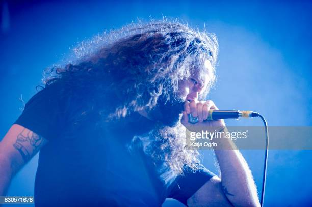 Wizzard Baboon of Corpsing performing live on stage on day 1 at Bloodstock Festival at Catton Hall on August 11 2017 in Burton Upon Trent England