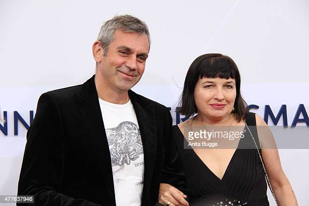 Wladimir Kaminer and Olga Kaminer attend the Bertelsmann Summer Party 2015 at the Bertelsmann representative office on June 18 2015 in Berlin Germany