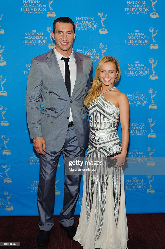Wladimir Klitschko and Hayden Panettiere attend the 34th Annual Sports Emmy Awards at Frederick P. Rose Hall, Jazz at Lincoln Center on May 7, 2013 in New York City.