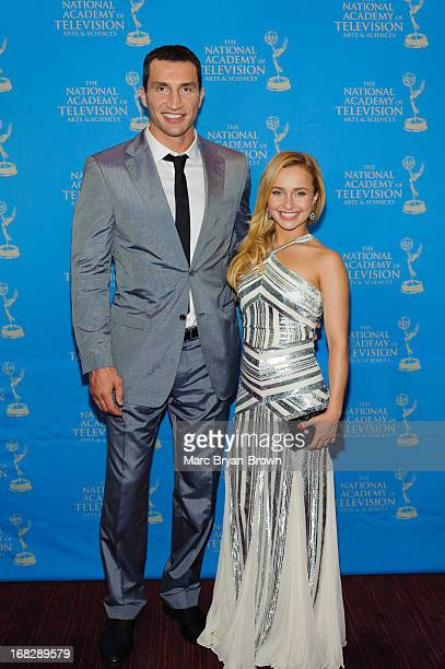 Wladimir Klitschko and Hayden Panettiere attend the 34th Annual Sports Emmy Awards at Frederick P Rose Hall Jazz at Lincoln Center on May 7 2013 in...