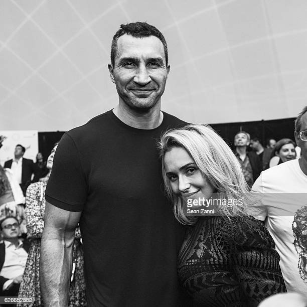 Wladimir Klitschko and Hayden Panettiere attend The Daily Front Row and Faena Art Celebrate the Launch of The Daily's Miami Edition Featuring Act One...