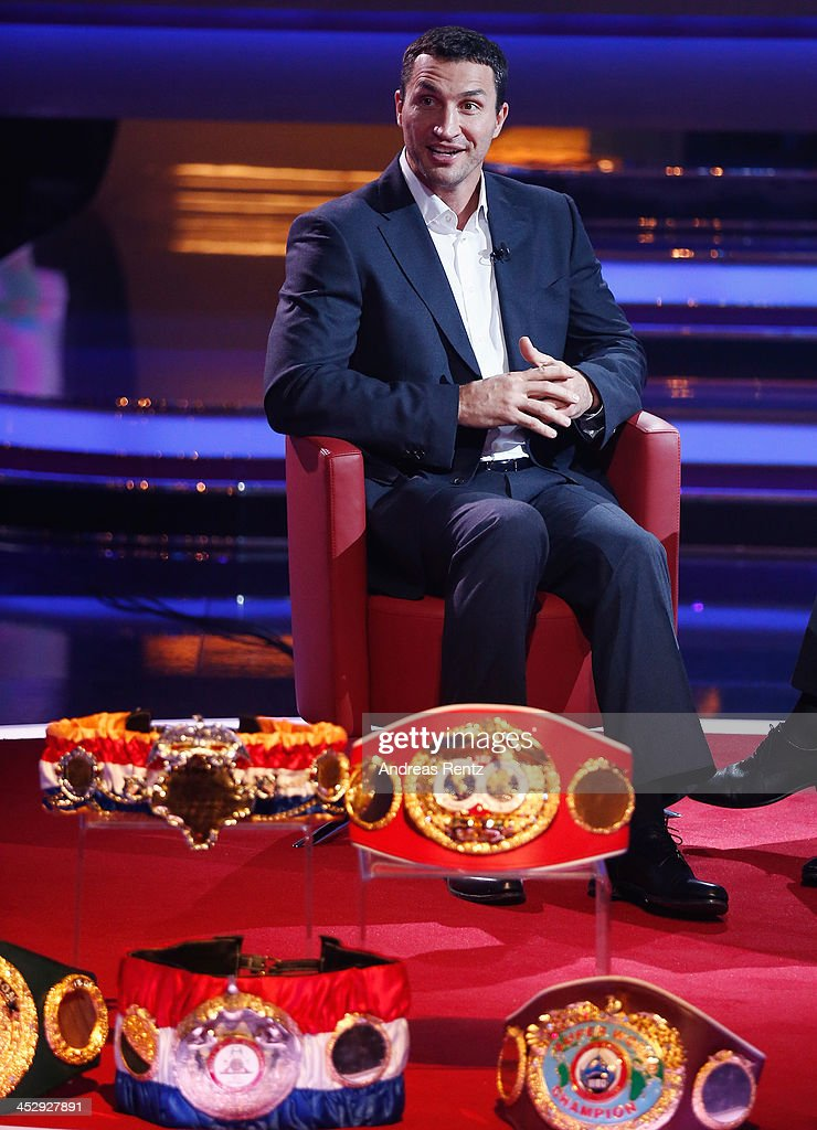 Wladimir Klitschko attends the '2013! Menschen, Bilder, Emotionen' - RTL-Jahresrueckblick on December 1, 2013 in Huerth near Cologne, Germany.
