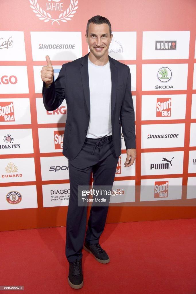 Wladimir Klitschko attends the Sport Bild Award on August 21, 2017 in Hamburg, Germany.