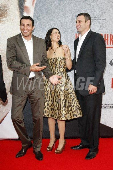 Wladimir Klitschko brother Vitali Klitschko and wife Natalia