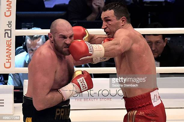 Wladimir Klitschko fights Tyson Fury at EspritArena on November 28 2015 in Duesseldorf Germany