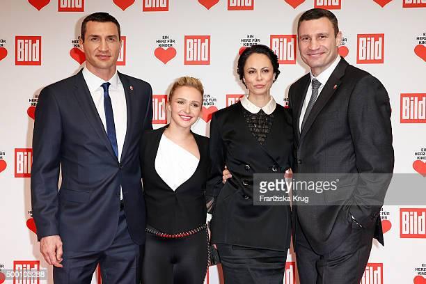Wladimir Klitschko Hayden Panettiere Natalia Klitschko and Vitali Klitschko attend the Ein Herz Fuer Kinder Gala 2015 at Tempelhof Airport on...