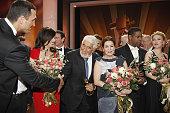 Wladimir Klitschko Iris Berben Oliver Berben Mario Adorf Hannelore Elsner Denzel Washington and Scarlett Johansson pose for a final picture at the...