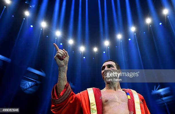 Wladimir Klitschko is seen after loosing his IBF/IBO/WBA/WBO World Heavyweight Championship title fight against Tyson Fury at EspritArena on November...