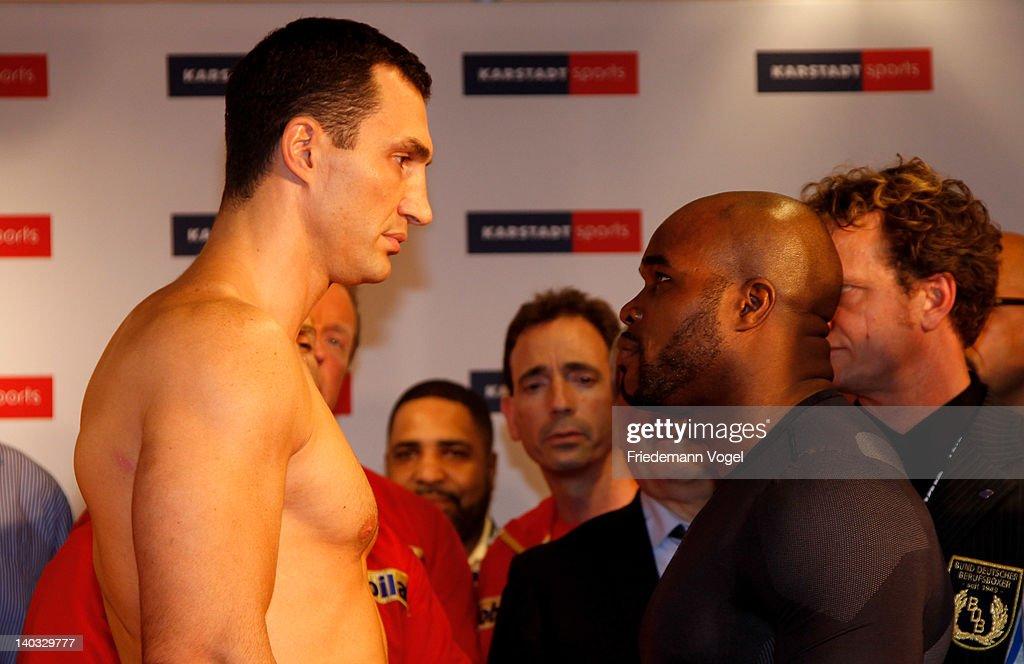 Wladimir Klitschko v Jean-Marc Mormeck - Weigh-In