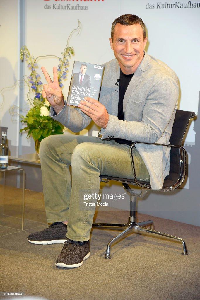 Wladimir Klitschko presents his book on August 29, 2017 in Berlin, Germany.