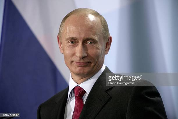GERMANY BERLIN Wladimir PUTIN prime minister of Russia and the chairman of the party United Russia