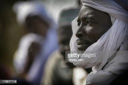 Wodaabe man wearing white turban