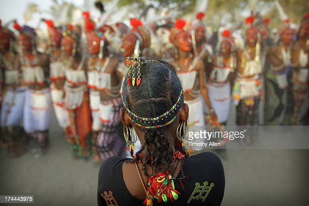 Wodaabe woman judges Gerewol beauty contest