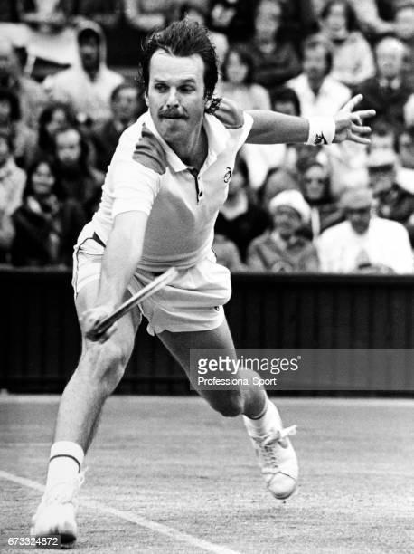 Wojciech Fibak of Poland in action at the All England Lawn Tennis and Croquet Club in Wimbledon London circa June 1990