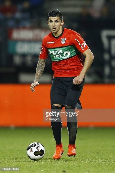 Wojciech Golla of NEC Nijmegenduring the Dutch Eredivisie match between NEC Nijmegen and Go Ahead Eagles at the Goffert stadium on February 04 2017...