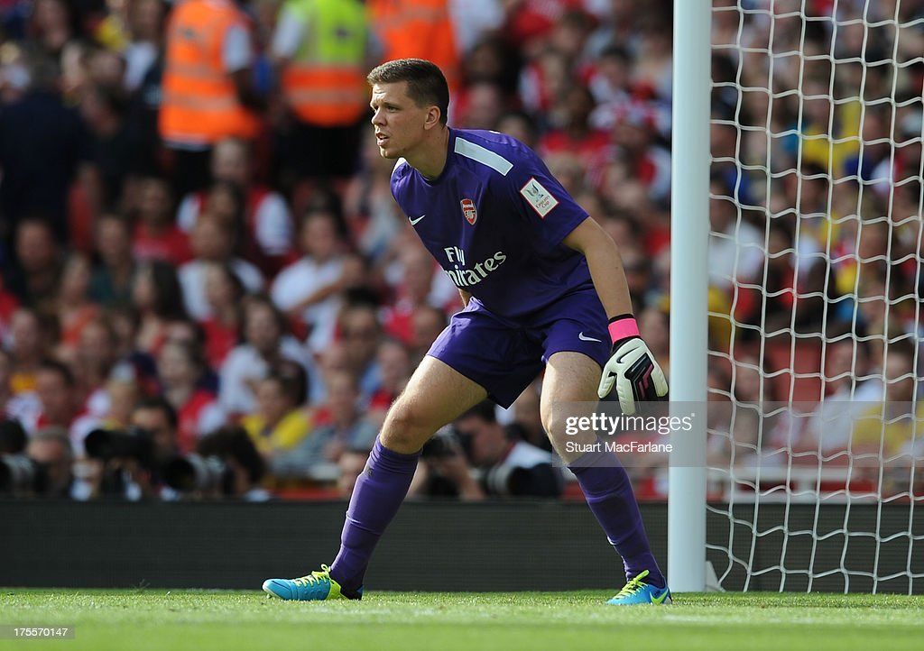 Wojciech Szczesny of Arsenal during the Emirates Cup match between Arsenal and Galatasaray at the Emirates Stadium on August 04, 2013 in London, England.