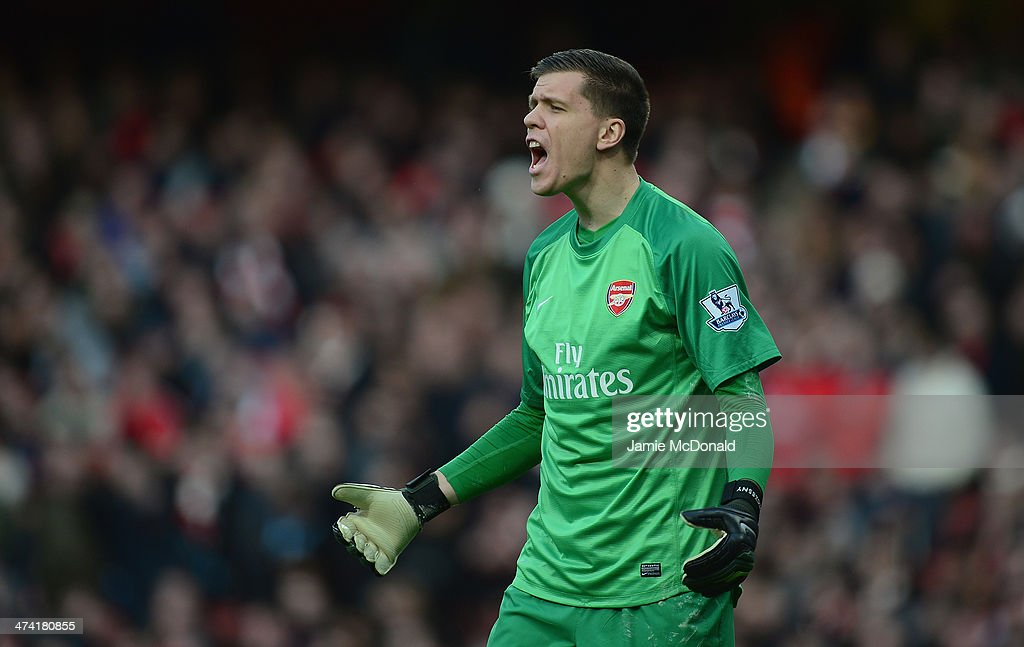 Wojciech Szczesny of Arsenal in action during the Barclays Premier League match between Arsenal and Sunderland at Emirates Stadium on February 22, 2014 in London, England.