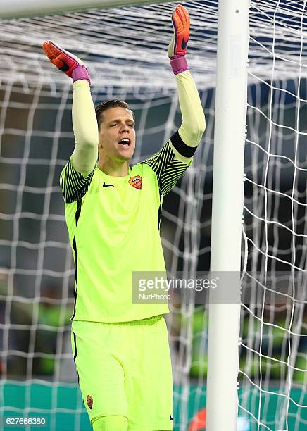 Wojciech Szczesny of AS Roma during the Italian Serie A football match between SS Lazio and AS Roma at the Olympic Stadium in Rome on december 04 2016