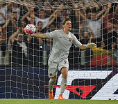 Wojciech Szczesny of AS Roma in action during the preseason friendly match between AS Roma and Sevilla FC at Olimpico Stadium on August 14 2015 in...