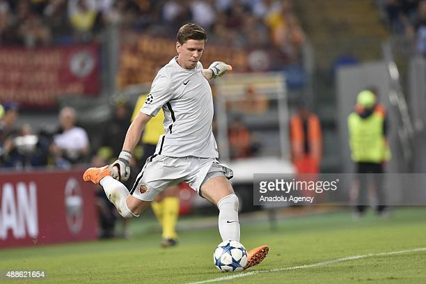 Wojciech Szczesny of AS Roma in action during the UEFA Champions League Group E soccer match between AS Roma and FC Barcelona at Stadio Olimpico on...