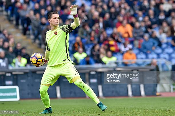 Wojciech Szczesny of Roma during the Serie A match between Lazio v Roma on December 4 2016 in Rome Italy