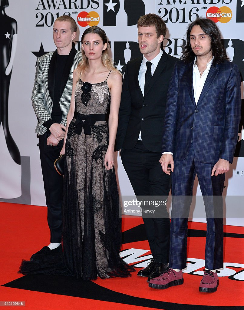 Wolf Alice attends the BRIT Awards 2016 at The O2 Arena on February 24, 2016 in London, England.